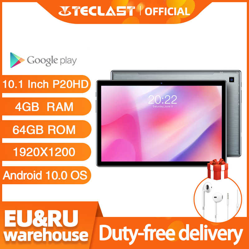 Teclast P20HD 10.1 Inch Tabletten Android 10.0 Os 4G Telefoontje 4Gb Ram 64Gb Rom 1920 × 1200 Gps 6000Mah Battary Ai-Speed-Up