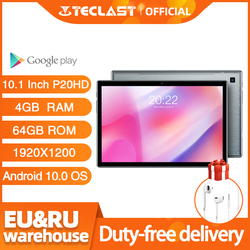Teclast P20HD 10.1 Inch Tablets Android 10.0 OS  4G Phone Call 4GB RAM 64GB ROM 1920×1200 GPS 6000mAh Battary AI-speed-up