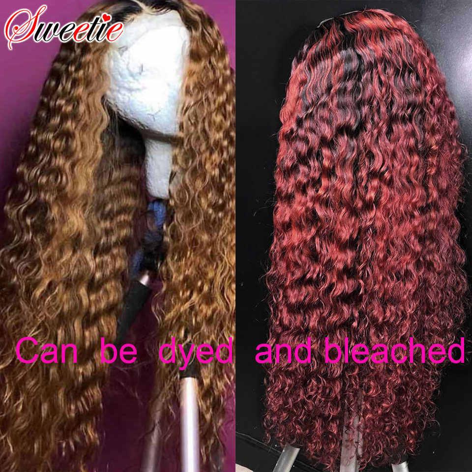 30 inç su dalgası peruk 13x4 dantel ön İnsan saç peruk kadınlar için tatlım hint Remy saç 150% 4x4 dantel kapatma peruk uzun tam