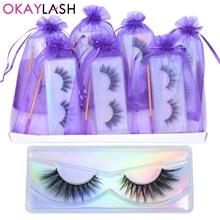 OKAYLASH – faux cils en vison 5D réutilisables, fait à la main, soyeux et clairsemé, maquillage naturel