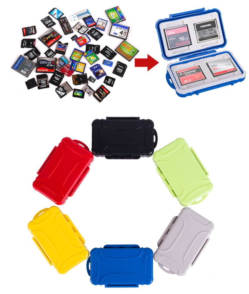 Multifunction SD SDHC MMC CF Card Micro SD Memory Card Case Waterproof Memory Card Protector For SD CF Cards