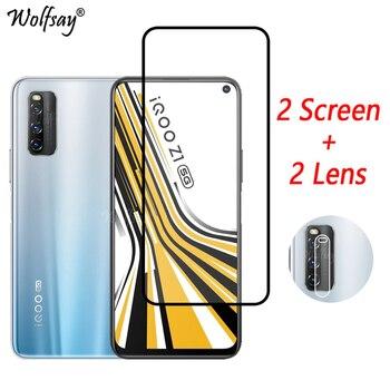 Перейти на Алиэкспресс и купить Закаленное стекло с полным покрытием для Vivo iQOO Z1, защитная пленка для экрана Vivo iQOO Z1, стекло для камеры Vivo iQOO Z1, стекло для экрана Vivo iQOO Z1, стек...