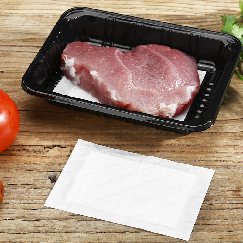 500pcs wholesale high quality food grade fresh meat fish poultry tray packaging blood water absorbent pad