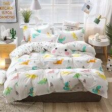 Luxury Bedding Sets Dinosaur Leopard Grain Comforter Cover Duvet Bed Sheet Pillowcases Child Kids Set