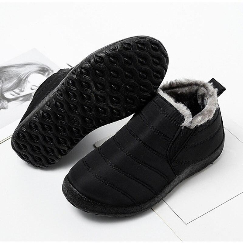 Snow Boots Women Shoes Warm Plush Fur Ankle Boots Winter Female Slip On Flat Casual Shoes Waterproof Ultralight Footwear 26