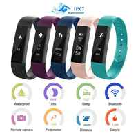 ID115 Fitness Tracker Waterproof Smart Bracelet Vibrating Alarm Clock Smart Band Hembeer Fitness Watch Wristband