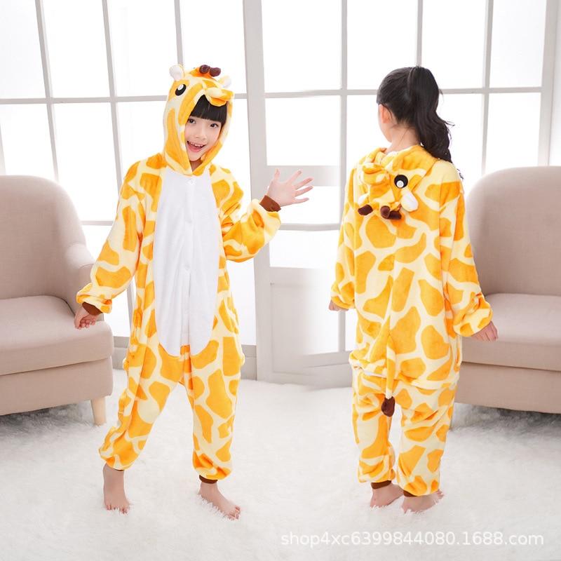 Crianças unicornio pijamas infantil crianças unicórnio quente