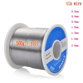 цена на Premium Soldering Wire 63/37 2%Flux Tin Lead 0.5~2mm Rosin Core Soldering Wire Reel Melt Rosin Core Solder Soldering 0.5kg/pc