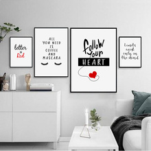 Motivation Success Concept Funny Coffee Quotes Nordic Posters and Prints Wall Art Canvas Painting Wall Pictures for Living Room