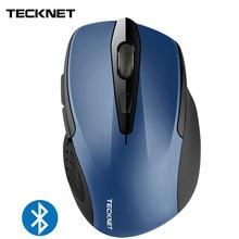 TeckNet Bluetooth Mouse BM307 Blue 2600DPI Wireless Auto Sleep Ergonomic Mice Mouses for Xiaomi Huawei Computer Laptop PC
