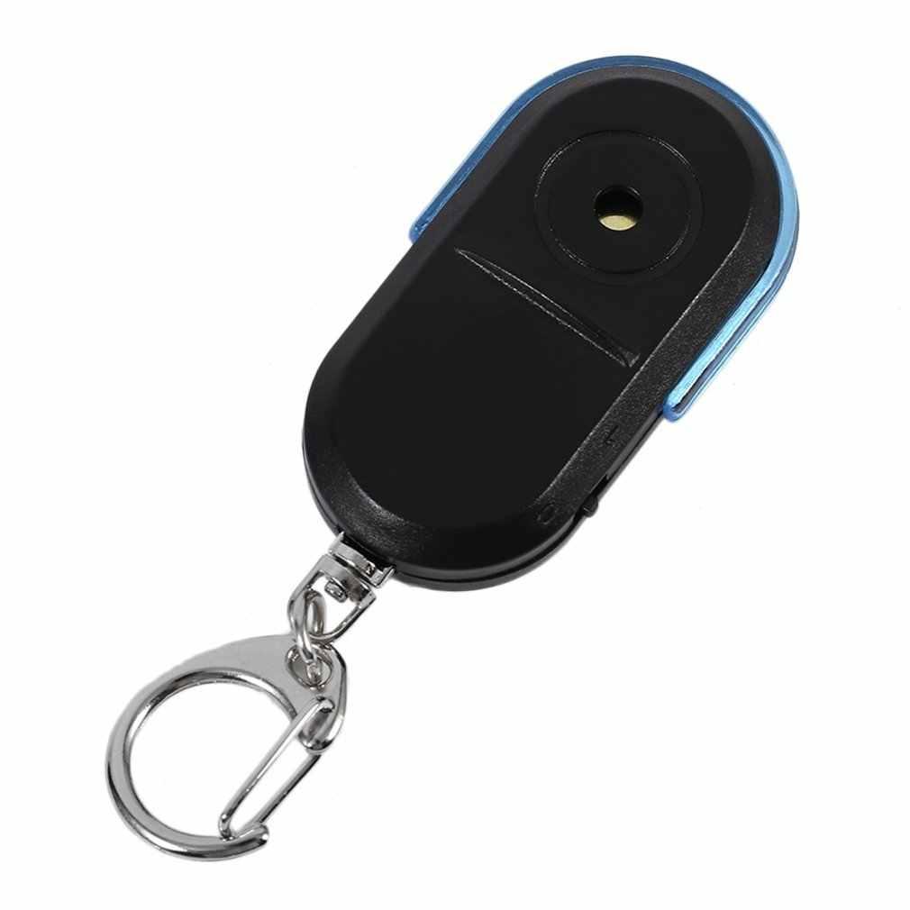 גודל נייד Keychain ישן אנשים נגד אבודה Wireless שימושי משרוקית צליל LED אור Locator Finder Keychain