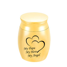 Jewelry Memorial Cremation Funeral-Urn Ashes Small Heart Hero My Angel Urns for Metal