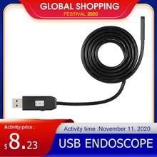 OWSOO 6 LEDs Borescope 5.5MM USB Endoscope 3M Cable Probe Waterproof Inspection Borescope USB Snake Tube Camera OTG Compatible