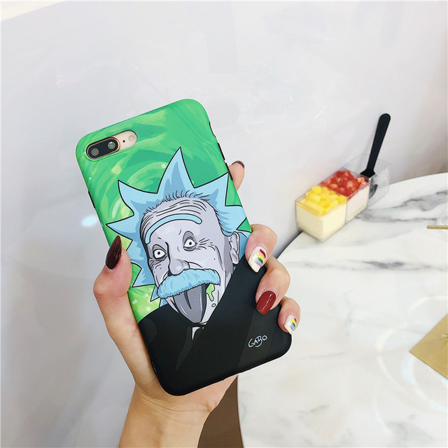 EINSTEIN RICK AND MORTY STYLE IPHONE CASE