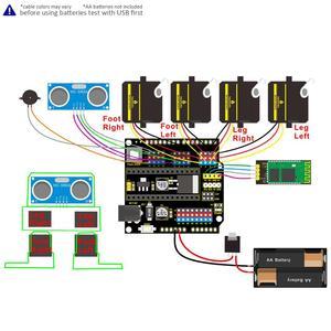 Image 3 - Keyestudio Diy Project Starter Kit Voor Arduino Otto Robot (Geen 3D Body Printer Onderdelen)