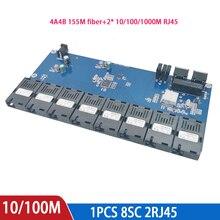 Gigabit Switch 8 Sợi 155M Cổng 2 1000M RJ45 UTP Công Nghiệp Đơn Cao Cấp Chế Độ Sợi Quang SC bộ Chuyển Đổi PCB Board