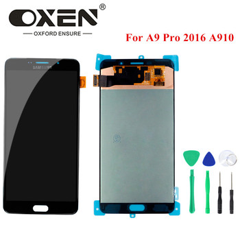 """OXEN For SAMSUNG GALAXY A9 Pro 2016 LCD Screen Touch Panel A910 A9100 A910F LCD Display 6.0"""" Digitizer Assembly Replacement+Tool"""