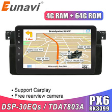Eunavi 1 Din Android Auto Multimedia Speler Voor Bmw E46 M3 318i 320i 325i Radio Stereo Gps Navagation Touch Screen geen Dvd 8''