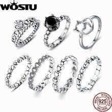 Горячая Распродажа 925 Серебряная корона свадебные кольца с кристаллами Европейские Аутентичные совместимые с оригинальными кольцами для женщин ювелирные изделия ZBB7204