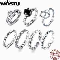 Hot Sale 925 Silver Crown Wedding Rings With Crystal European Authentic Compatible With Original Rings For Women Jewelry ZBB7204