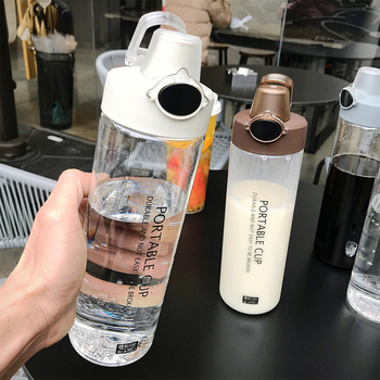 Explosion Sports Water Bottles 800ML Protein Shaker Outdoor Travel Portable Leakproof PC plastic Drink Bottle Transparent Bottle 2