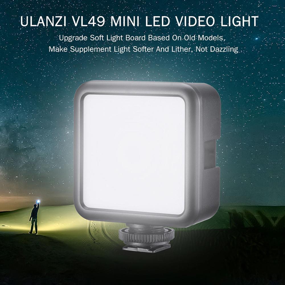 Мини видео светильник светодиодный 49 шарик заполняющий светильник литиевая батарея заполняющий светильник для макрофотографии DSLR камера ...
