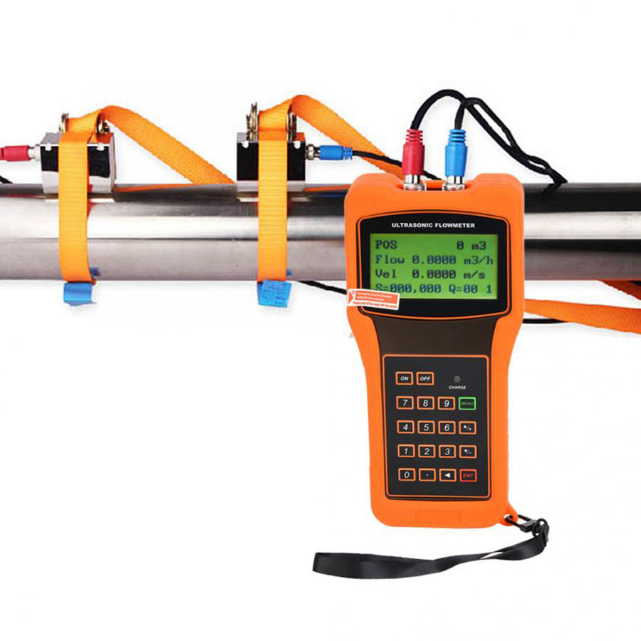 TUF-2000H TS-2(DN15~DN100mm) TM-1(DN50~DN700mm) TL-1(DN300~DN6000mm) Handheld Digital Ultrasonic Flow Meter Flowmeter 100-240V