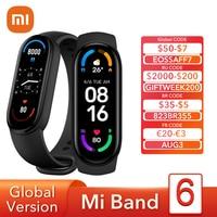 Versione globale Xiaomi Mi Band 6 Smart Bracelet AMOLED schermo intero spo