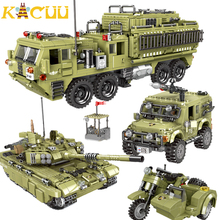 Military Heavy Duty Truck Building Blocks DIY Motorcycle Helicopters Tank Assemble Educational Playmobil Figures Toys