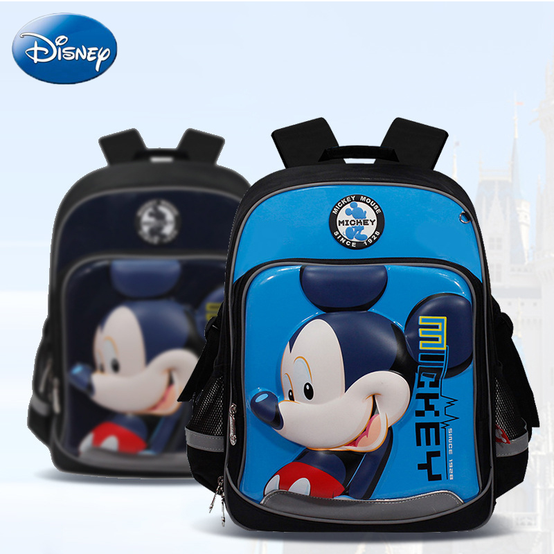 Disney Quality Mickey Minnie Mouse Bag Kids Girls Cartoon Waterproof Children Bags Travel Plush Backpack