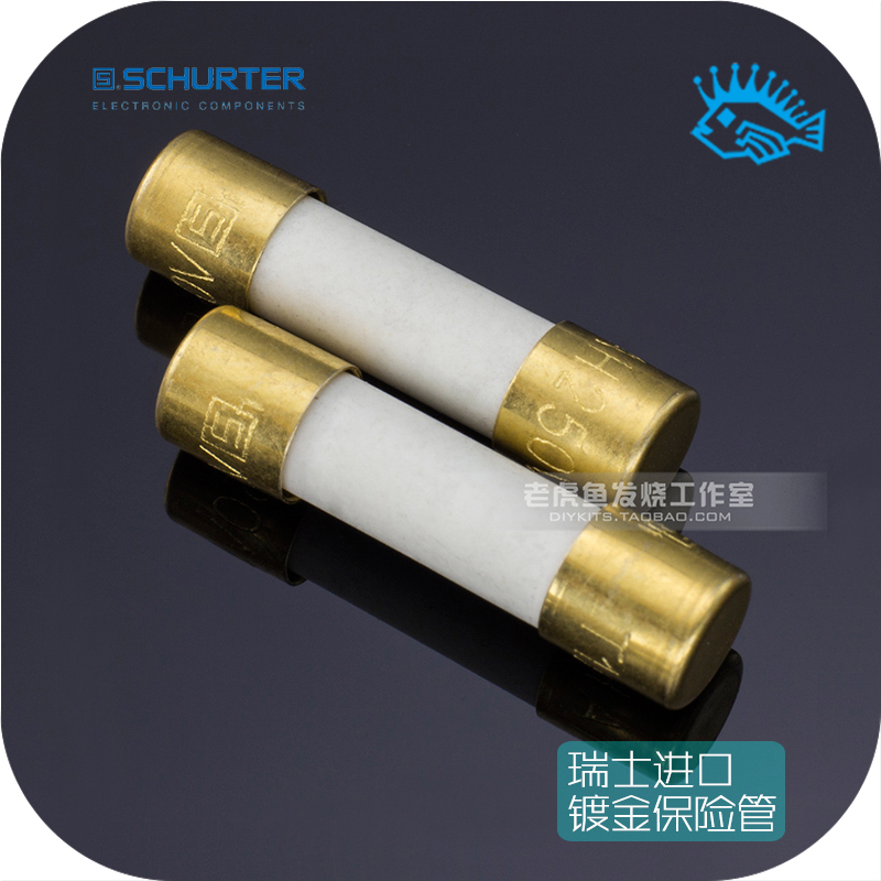 1pcs/5pcs Original Swiss SCHURTER Alloy Plated Blonde Burning Audio Fuse 5*20mm Slow Melting 1A~16A