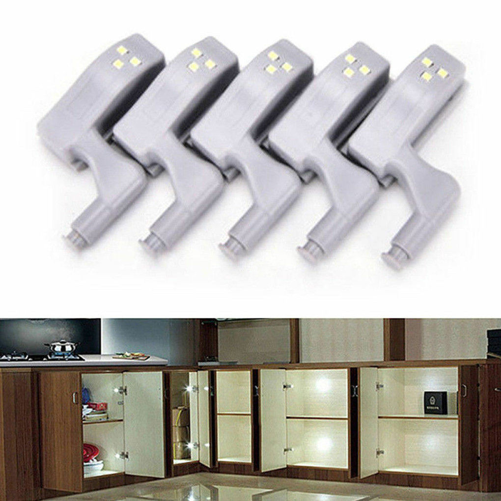 2/5/6/10Pcs LED Smart Touch Induction Cabinet Light Cupboard Inner Hinge Lamp Sensor Light Night Light For Closet Wardrobe