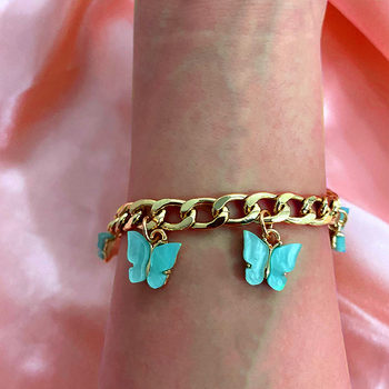 Flatfoosie Fashion Cute Insect Butterfly Bracelets for Women Gold Silver Color Wide Bracelet 2020 New Design Jewelry Party Gifts