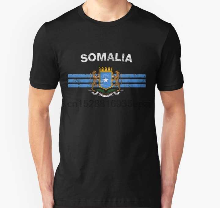 Mężczyźni tshirt somalii flaga koszula somalii godło somalii flaga T Shirt koszula koszula damska koszulka koszulki top