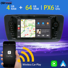 Android 9,0 PX6 4G + 64G Auto DVD-Multimedia-Player Für SEAT IBIZA 2009-2013 GPS Navigation radio Wireless Carplay TDA7850 HDMI DSP