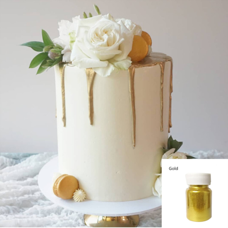15g Edible Gold Powder Mousse Cake Fondant Macaron Chocolate Decoration Glitter Powder Silver Pearl Powder Baking Color Dust