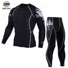 NEW ARRIVAL Summer Jacket Quick Dry Suit Running T-shirt Set Breathable Tight Long Tops & Pants S-3XL