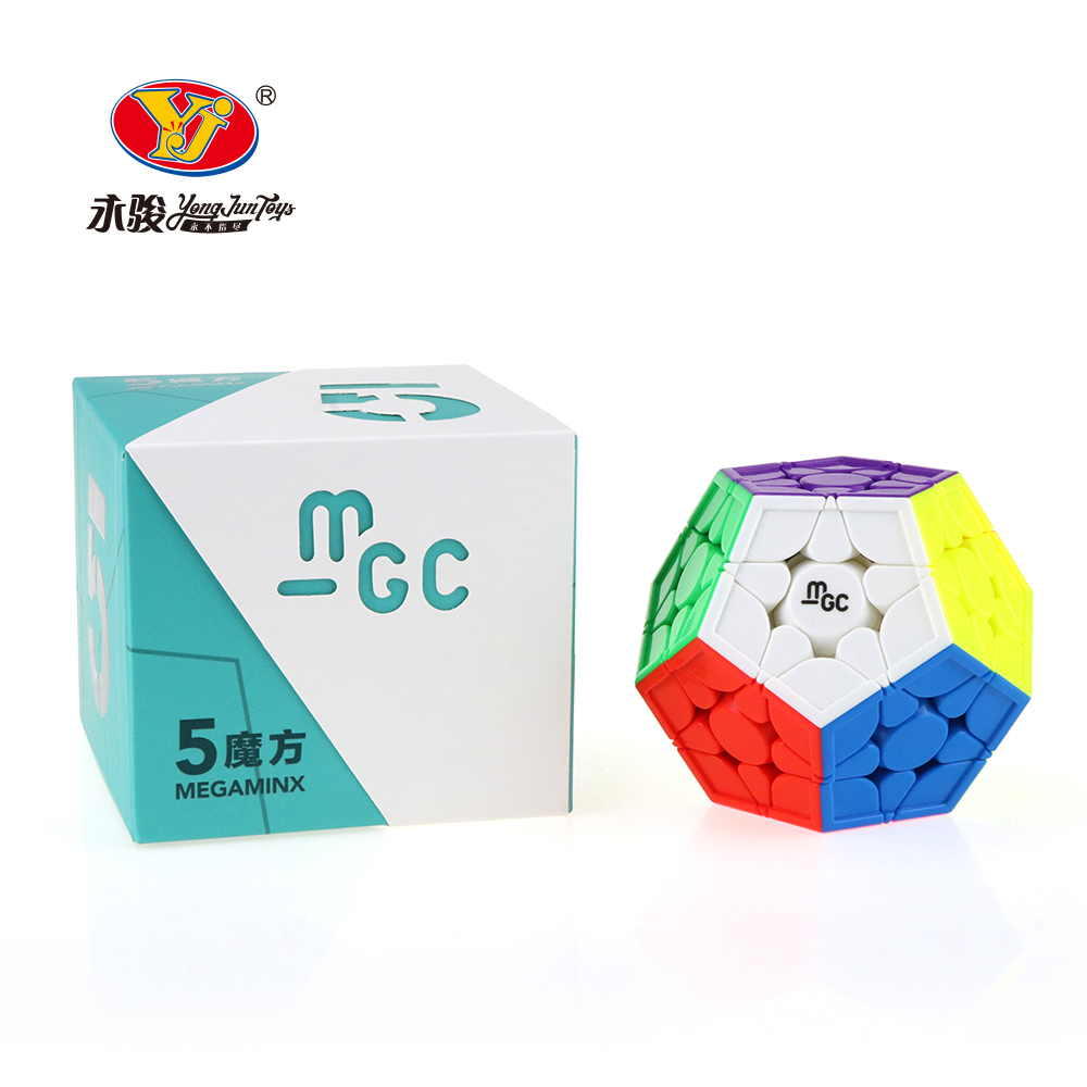 Yongjun YJ MGC 3x3 Magnetic Wumofang Stickerless Magic Cube  Megaminxeds Speed Puzzle Cube Educational Toys Gift Cubo Magico