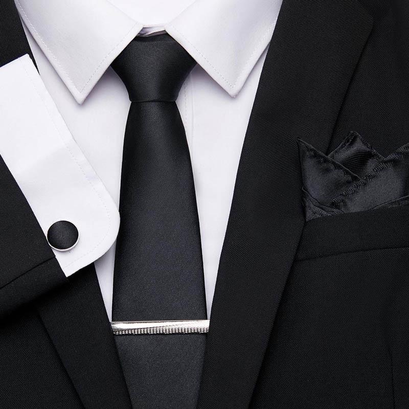 Men's Necktie Stripe Ties Jacquard Woven 7.5cm 100%Silk Men Tie Flomal Dress Accessories Wedding Party Mens Classic Ties Set