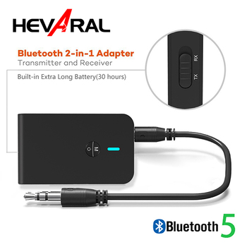 Wireless Bluetooth Adapter APTX Receiver Transmitter 2 In 1 Bluetooth 5.0 Audio Transmission Stable Stereo Music For TV PC CAR
