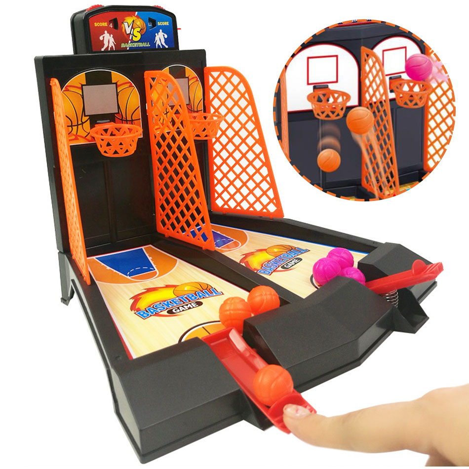 Mini Basketball Shooter Finger Board Desktop Novelty Toy Fun Sports Travel Game