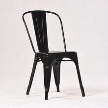 Нордический металл-железо обеденный стул, железо-Железо Обеденный Стул, железо-арт стул, тиликс ресторан, кофейня