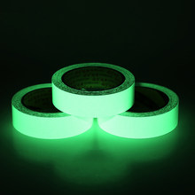 5 Teile/los Dicke 5mm Selbst-adhesive Leucht Band Streifen Glow In The Dark Green Home Decor Band 10mm/20mm/30mm/40mm/50mm(China)