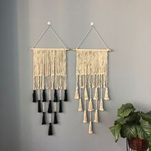Nordic Macrame Woven Tapestry Boho Chic Bohemian Wall Hanging Home Decoration Crafts Cotton Rope Woven Indoor