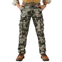 2019 calças de carga dos homens da tendência algodão de alta qualidade camuflagem jogger masculino militar camuflagem do exército moda masculina calças bolsos|cargo pants army|pants army|camouflage joggers -