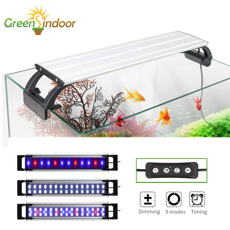 Aquarium Light LED Lighting 20-65CM Fish Tank Lamp Aquatic Plant Lights Fishing Led RGB Indoor Decoration With Timer And Dimming