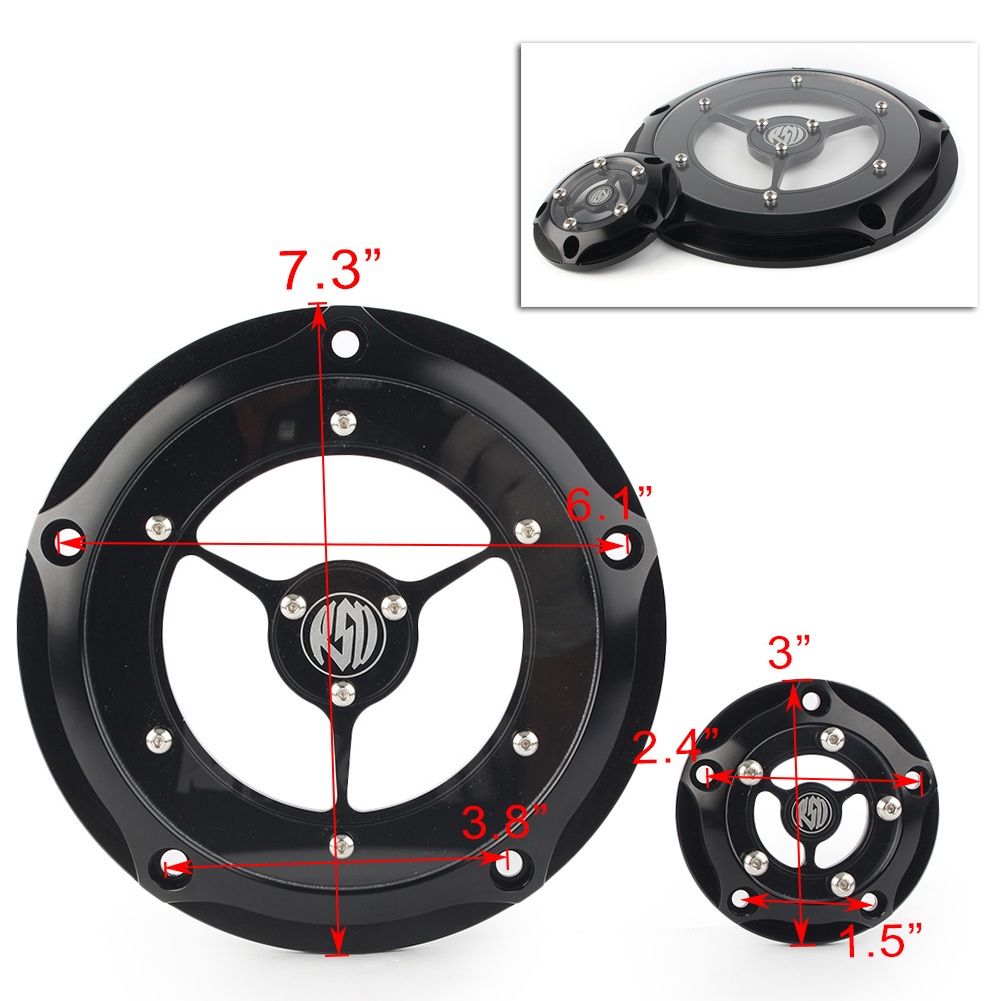 Derby And Timer Timing Covers For Harley Street Road King Glide FLHX Softail