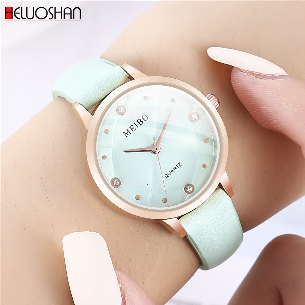 Top Brand Luxury Fashion Women Watches Bracelet Casual Watch Ladies Leather Analog Quartz Crystal Wristwatch Relogio Feminino