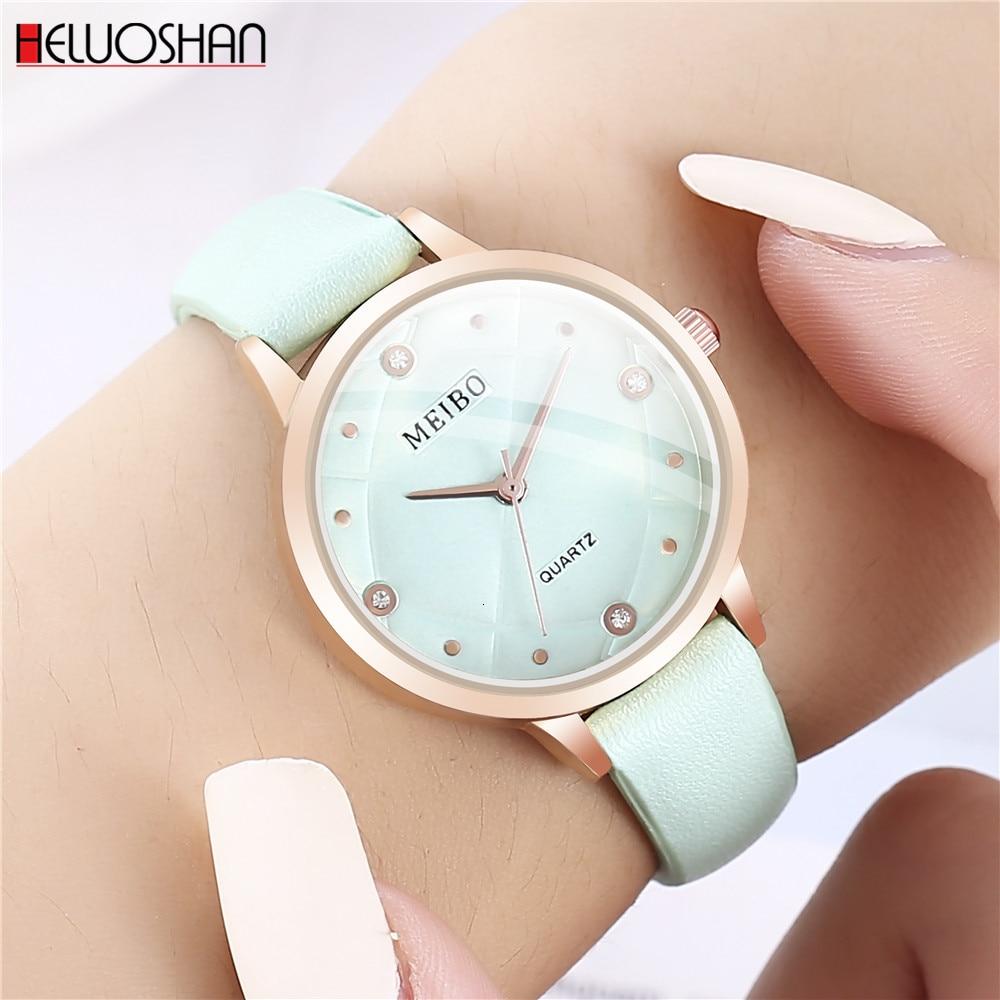 Top Brand Luxury Fashion Women Watches Bracelet Casual Watch Ladies Leather Analog Quartz Crystal Wristwatch Relogio Feminino
