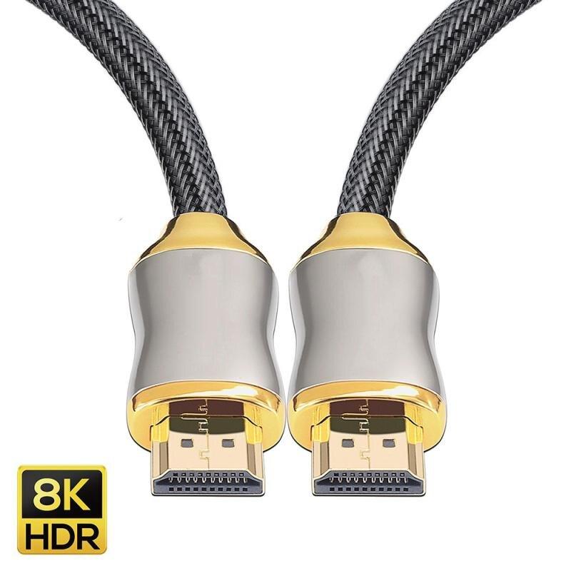 Премиум 2,1 HD 8K 144 Гц высокоскоростной позолоченный Плетеный свинцовый 2160P 3D HDTV UHD Прямая поставка HDMI-совместимый